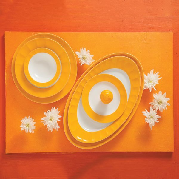 سرویس چینی زرین 6 نفره غذاخوری نارنج نئوکلاسیک (29 پارچه)