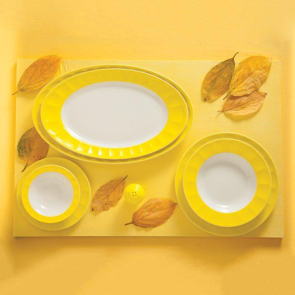 سرویس چینی زرین 6 نفره غذاخوری آفتاب نئوکلاسیک (29 پارچه)