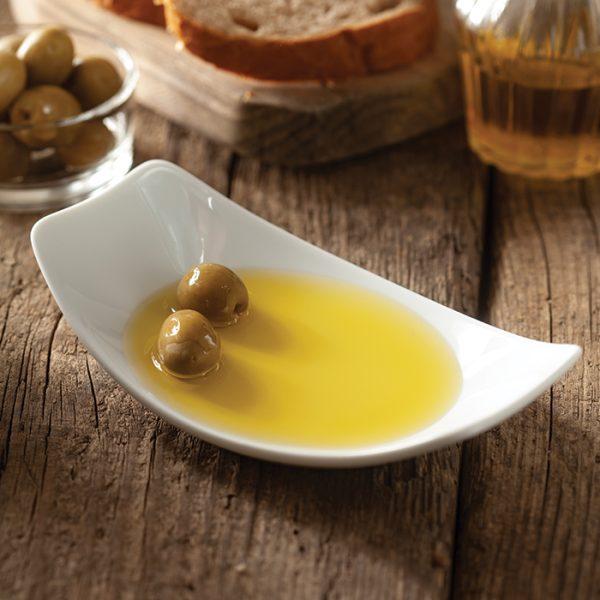 ظرف زیتون ساده چینی زرین سفید (6 پارچه)
