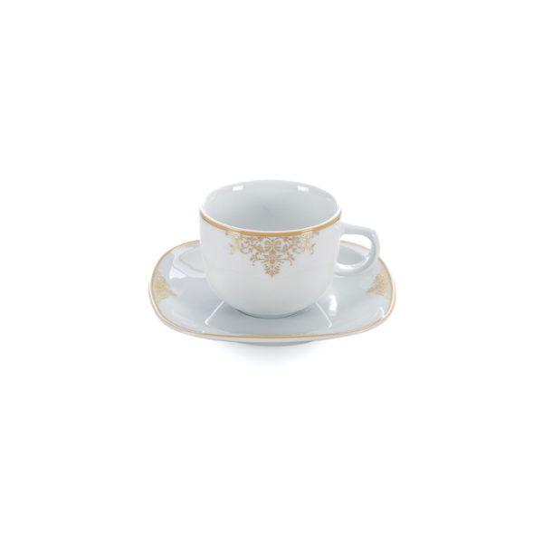 سرویس چینی زرین 6 نفره چای خوری مونت کارلو طلایی (12 پارچه)