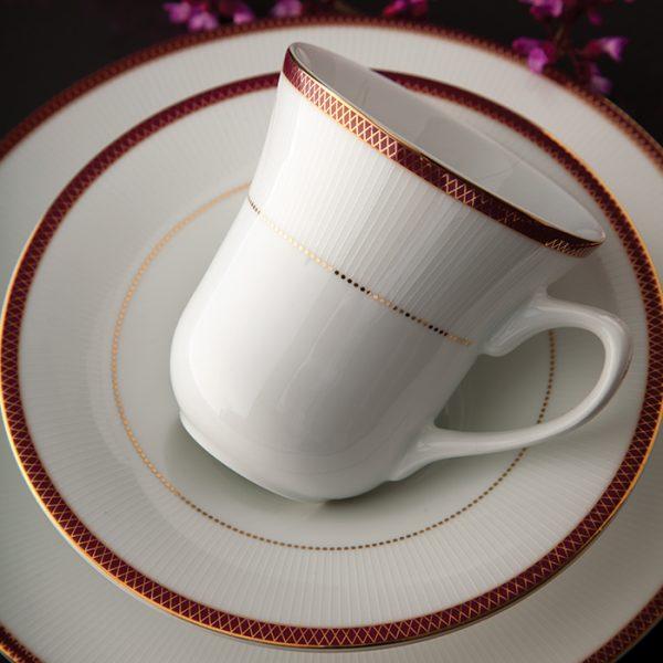 سرویس چینی زرین 12 نفره کامل سپینود ارغوانی (108 پارچه)