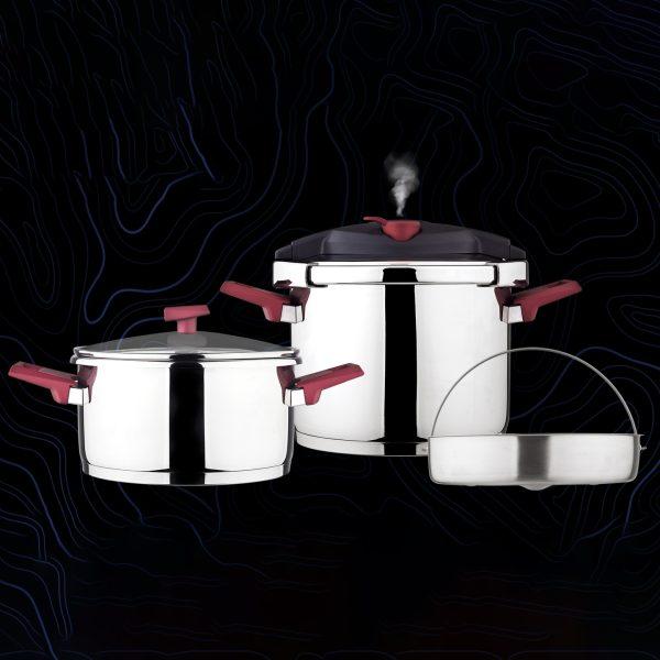 زودپز دوقلو کاندید مدل هلیوس (6 لیتر)
