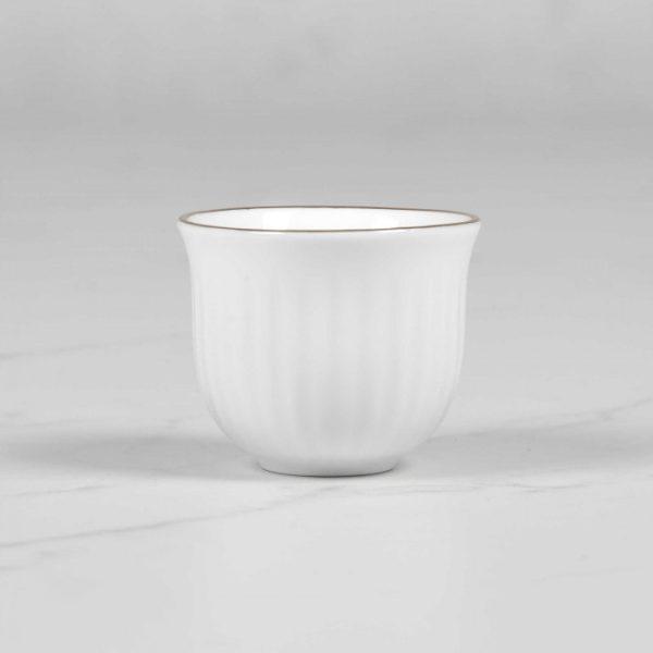 فنجان اسپرسو چینی زرین طرح زرین (6 پارچه)