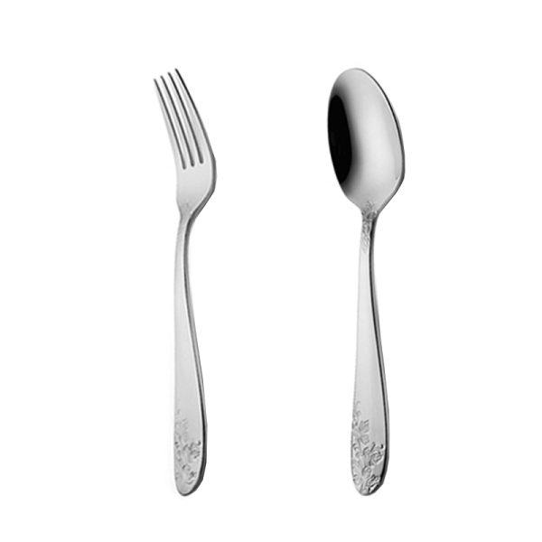 قاشق و چنگال غذاخوری 6 نفره ناب استیل طرح امپریال استیل براق (12 پارچه)